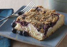 I found this recipe for Blueberry Cheese Streusel Coffee Cake, on Breadworld.com. You've got to check it out!