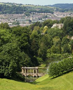 View from Prior Park to Bath, Somerset, England