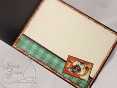 Graphic 45 Paper & Perfect Layers! - 'Lucky Dog' CARD, Inside - Great inspiration & How-to info at perfectpapercrafting.com