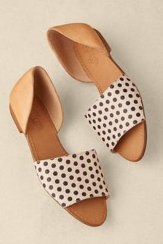 Maya Flats | Soft Surroundings- love the polka dots...but would prefer a tiny bit higher heel.