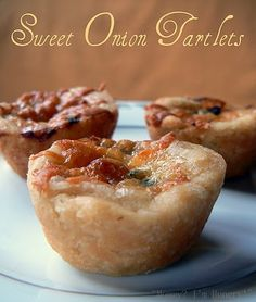 Sweet Onion Tartlets  adapted from Sandra Lee    4 tablespoons butter  1-2 Vidalia sweet onions, diced, about 3 cups   1 pie dough   3 large eggs   1 1/3 cups half-and-half   1 (1.3-ounce) envelope dry onion soup mix (such as Lipton)   1 tsp each, pepper, parsely, garlic powder  3 TBL sliced green onions  1/2 cup shredded Monterey Jack cheese   Preheat oven to 350 degrees F.