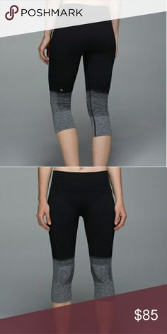 NWOT Lululemon Seamlessly Street Ombre Crops New without tags Lululemon black and gray ombre crops. They have a higher rise and are super comfortable and flattering. Please comment with any question! lululemon athletica Pants Ankle & Cropped