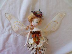 OOAK Fairy Art Doll  Junella Amber Fortuna  by paulasdollhouse
