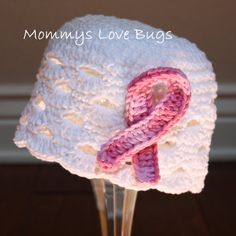Hope for a Cure Beanie with Removable Breast Cancer Hair Clip - 5T thru Adult Large Sizes on Etsy, $26.00