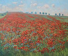Poppy Meadow Landscape Paintings, Poppy, Nature, Landscape, Poppies, Naturaleza, The Great Outdoors, Natural, Mother Nature