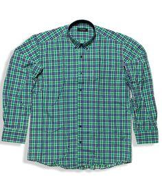 84c38ae79f73 Καρό μακρυμάνικο πουκάμισο σε regular γραμμή 100% βαμβακερό. Κλασσικό  κομμάτι που συνδυάζεται τόσο με τζιν