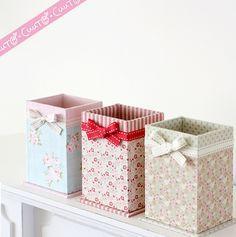 Resultado de imagem para roseberry cartonnage Cardboard Box Crafts, Paper Crafts Origami, Diy Paper, Diy Storage Boxes, Desk Organization Diy, Diy Crafts For Girls, Diy Home Crafts, Diy Gift Box, Diy Box