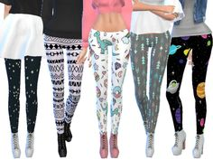 Ten more super cute tumblr themed leggings!  Found in TSR Category 'Sims 4 Female Everyday'