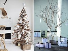 Alternative Christmas Tree, Winter Time, Most Beautiful Pictures, Ladder Decor, More Fun, Diys, Presents, Table Decorations, Holiday Decor