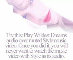 I just tried it. I didn't understand. So I ended up playing a Wildest Dreams Fan Audio and the Style video to get a remix. Amazing. Except the fact that Style is longer than Wildest dreams. If you tried this and understood what was supposed to happen, please comment. Thanks. -Emily.