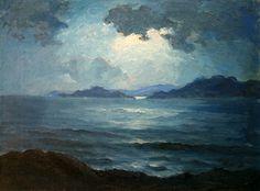 Frederick Judd Waugh (1861-1940): Moonlight on the Sea.