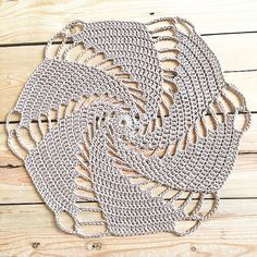 """""""I've always wanted to #crochet one of these #spiral #doilies To my surprise it was quick and so easy! Yay! #lovetocrochet #doily #crochetlover…"""""""