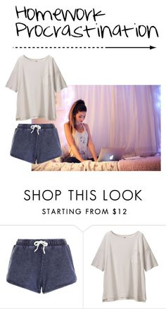 """Procrastination"" by nancegayle ❤ liked on Polyvore featuring Uniqlo, women's clothing, women, female, woman, misses and juniors"