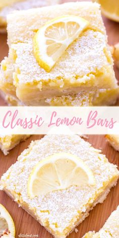 These classic lemon bars have a tangy lemon filling and a sweet shortbread crust., These classic lemon bars have a tangy lemon filling and a sweet shortbread crust! These homemade lemon bars are the perfect Easter dessert, spring des. Dessert Parfait, Dessert Oreo, Summer Dessert Recipes, Spring Desserts, Easter Recipes, Best Summer Desserts, Spring Recipes, Desserts Ostern, Köstliche Desserts