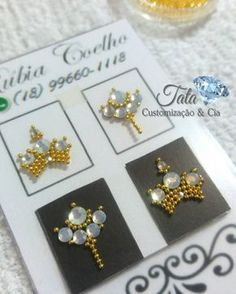 Lily Nails, Foto Art, Nail Decorations, E Design, Manicure, Nail Art Designs, Gems, Pearls, Stone
