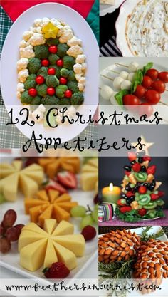 Great list! 12+ Party Foods for Christmas Parties! #appetizer #Christmas  |  Feathers in Our Nest