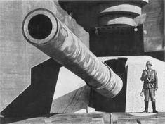 Photo impressionnante d'un canon à longue portée de la batterie Lindemann