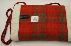 Harris Tweed Hand Muff in a Beautiful Orange and by Ten10Creations