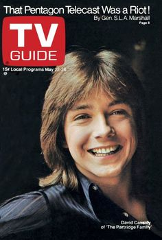 May 22, 1971-David Cassidy... I was 10 yrs old and in love...