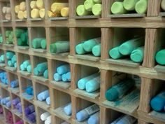 A burst of color greets pastelists that visit our store. Jack Richeson is just one of the myriad of pastel lines that we carry! Art Supplies, Easter Eggs, Pastel, Tools, Store, Pie, Business, Appliance, Crayon Art