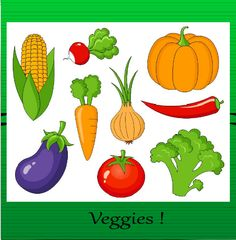 Fruits And Vegetables Clip Art Collection Clipart Bundle Vegetable Drawing, Vegetable Cartoon, Fruit And Veg, Fruits And Vegetables, Veggies, Easter Crafts, Crafts For Kids, Fruit Clipart, Vegetable Pictures