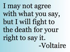one of my all-time favorite quotes and a sentiment that has started to fade a bit in this fraught political clime Political Quotes, Political Slogans, Quotes To Live By, Me Quotes, Voltaire Quotes, I Will Fight, Quotes And Notes, Some Words, Amazing Quotes