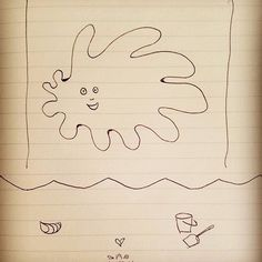It's #gettingcold here so #easy to #engage in a #little #daydreaming #sun #summer #strand #beach #susanneszippl #artisessentialSAS #paintingonheartsideofbrain #dailydoodle