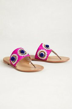 A thong sandal doesn't have to be plain and boring: amp it up with neons and embellishments