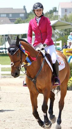 Jackie Smith wearing the Animo --Petunia show coat