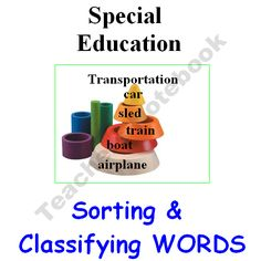 Special Education - Sorting and Classifying product from The-Teachers-Lounge on TeachersNotebook.com