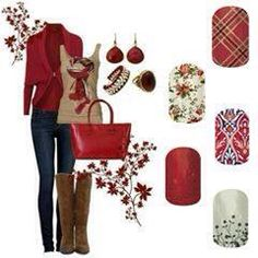 Christmas inspired outfit with Jamberry nails www.emilyhooten.jamberrynails.net