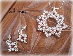 seed beads & pearls - love the earrings