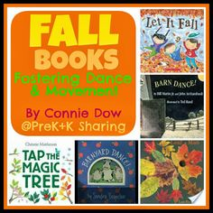 Inspire young children to move with these books about autumn by Connie from Moving is Learning at PreK + K Sharing