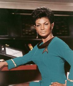 Since its conception, Star Trek has been a source of revolution. It has been said that it predicted the future, but really Star Trek created it. Star Trek Tv, Star Wars, Star Trek Convention, Nichelle Nichols, Star Trek Characters, Fantasy Characters, Star Trek Original Series, Starship Enterprise, Star Trek Universe
