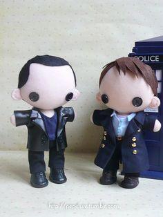 Nine and Captain Jack Harkness plushies - I want them!!!