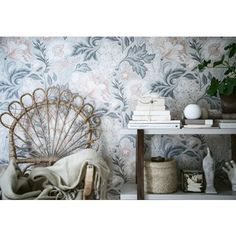 Fabric Wallpaper, Flower Wallpaper, Prom Makeup Looks, How To Feel Beautiful, Wall Colors, Ava, My Dream Home, Entryway Tables, Kids Room