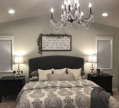 25 Cozy Bedroom Decor Ideas that Add Style & Flair to Your Home - The Trending House Contemporary Bedroom, Modern Bedroom, Master Bedrooms, Master Suite, Bedroom Classic, Bedding Master Bedroom, Bedroom Curtains, Girls Bedroom, Cozy Bedroom