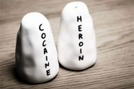 Warning: may cause the shakes. Cocaine & Heroin Salt and Pepper Shakers by David Shrigley