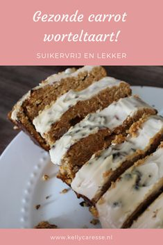 Carrotcake without sugar :-) Tapas Recipes, Pureed Food Recipes, Super Healthy Recipes, Healthy Dessert Recipes, Sweet Recipes, Healthy Cake, Healthy Cookies, Healthy Sweets, Healthy Baking