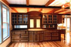 unique kitchen cabinet styles full woody cabinet