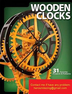 Scroll Saw Goodies Wooden Gear Clock Plans