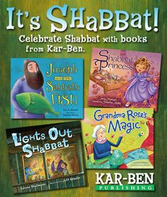 Kar-Ben Publishing, A Growing Jewish Library for Children  Want to help teach your littles ones why Shabbat is the best day of the week? Fun books about everything from princesses to snow storms to spiders entertain and create joy for Shabbat!