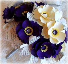 Fai da te carta fiore Bouquet modelli & modelli - bouquet da sposa di carta fai da te - libro pagina fiori - bouquet da sposa fiore modelli-fai da te