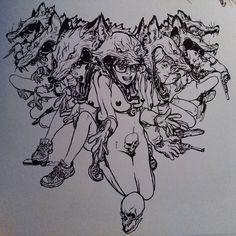 Superani artist Kim Jung Gi  From his latest sketchbook... Omphalos! Tag your friends!  #superani #art #illustration  #drawing  #kimjunggi #kimjunggius #draw #artist #comics #comic #pen #pencil #sketch #sketchbook #brush #brushpen #shoutout #shoutouts #design #designer #creative #sketching #sketches #doodling #doodle #doodles #instadaily #friend #friends #tag