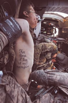 """For those I love, I will sacrifice"".. Love this quote and how it fits in with my protecting the family feelings"