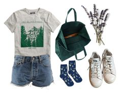 """""""Untitled #141"""" by polinaboo ❤ liked on Polyvore featuring H&M, Levi's, adidas and Maison Margiela"""