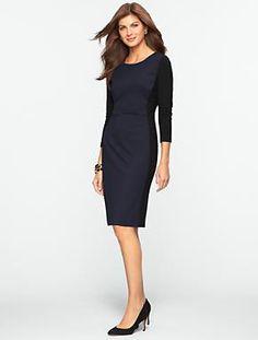 Talbots - Colorblocked Ponte Dress | Dresses | Misses