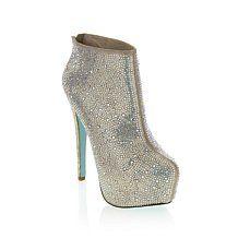 "Betsey Johnson ""Bride"" Jeweled Platform Ankle Boot"