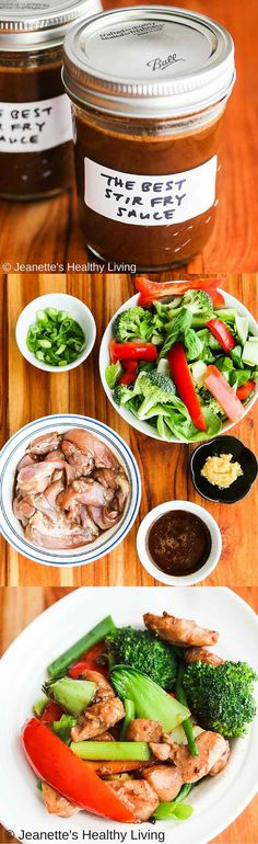The Best Chinese Stir Fry Sauce - make a batch of this special sauce and you can make stir fries anytime easily. Use coconut sugar instead of granulated sugar to keep this healthy sauce clean eating as well! Stir Fry Recipes, Sauce Recipes, Chicken Recipes, Cooking Recipes, Best Stir Fry Recipe, Chinese Stir Fry Sauce, Easy Stir Fry Sauce, Wok Sauce, Pesto