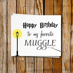 Harry Potter Birthday Card Printable DIY Birthday by PrintyMuch                                                                                                                                                     More